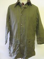 "Barbour A200 Border Waxed jacket - M 38"" Euro 48 or UK 14 in Green"