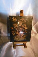 chevalet et sous verre fleurs séchées (vintage)