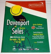 LINDSAY DAVENPORT Signed Tennis Challenge Program 2002 Monica Seles