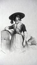 GRAVURE ANCIENNE 19e - COSTUMES NICOIS