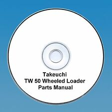 Takeuchi  TW50 / TW 50 Wheeled loader Parts Manual