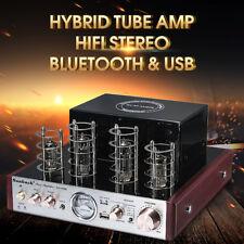 Bluetooth HIFI Tube Power Amplifier Stereo Hybrid AMP 30W+30W USB Aux 3A 220V