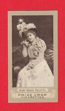 STEPHEN MITCHELL - RARE ACTRESS FROGA D CARD -  MISS  GRACE  PALOTTA  -  1899