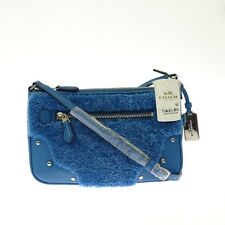 COACH Women Blue Rhyder Pochette Cross Body Handbag Small New