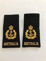 GENUINE PAIR  of SRI CHIEF PETTY OFFICER epaulettes Australian Navy RAN