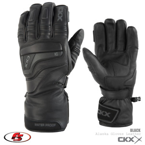 NEW 2021 CKX Alaska Snowmobile Motorcycle Gloves Leather Black SM MD XL 2X