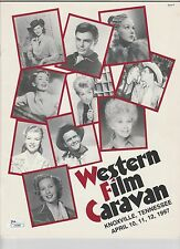 1997 WESTERN FILM CARAVAN MAGAZINE 11 AUTOGRAPHS ON 8X10 PHOTOS JOHN SAXON JSA