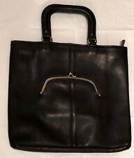 Vintage 1960'S Coach Bonnie Cashin Pre Creed - Black Leather - Pristine!