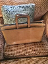 "Vintage Leather Briefcase/Document/Portfolio Bag Only Markings ""Ideal"" On Zipper"