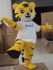 Tiger Adult Halloween Cartoon Mascot Costume Fancy Dress