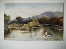 Old Windsor Early 1900s Old Postcard Thames Views Posted 1906 Billericay