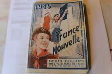 Fascicule Cœurs Vaillants 1945 france nouvelle liberation de paris tintin milou