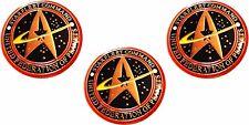 Star Trek The Next Generation STARFLEET COMMAND Logo Pin Set of 3 Pins