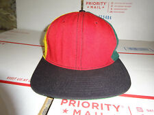 73092a9dc66 Broner One Size Tri-Color Vtg USA Made Hiking Camp Baseball Cap Colorblock