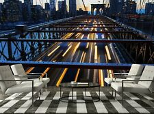 New York City at Night  Photo Wallpaper Wall Mural DECOR Paper Poster Free Paste