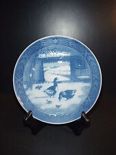 Royal Copenhagen Christmas Plate 1969 In the Old Farmyard Reduced