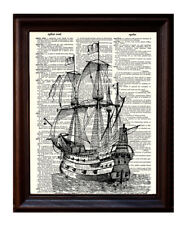painting /'Lost/' by Jessie Edsall ocean pirate ship Limited Signed Print