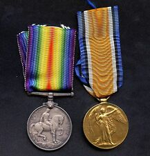 WW1 Britain 1914-18 & Victory Medals 20484 PTE .W.H.ORRELL L.I.LAN.R & Orig. Box