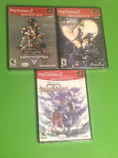 ** Kingdom Hearts I, II and Re: Chain of Memories PS2 Brand New / Factory Sealed