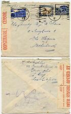 WW2 CENSORED SOUTH AFRICA 23 APRIL 1940 PRE OCCUPATION NETHERLANDS AIRMAIL