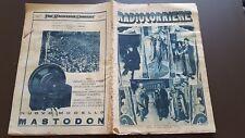 RADIOCORRIERE anno 6 n 47 1930 RADIO ITALIA - MASTODON - ATWATER KENT 6/17