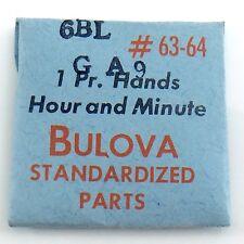 Genuine Bulova Parts 6BL GA9 #63-64 1 One Pr Hands Hour Minute Sealed I609