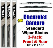 Wiper Blades 3pk Front Rear Standard fit 1982-88 Chevrolet Chevy Camaro 30180x3