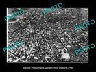 OLD LARGE HISTORIC PHOTO OF DUBOIS PENNSYLVANIA, AERIAL VIEW OF TOWN c1940 1