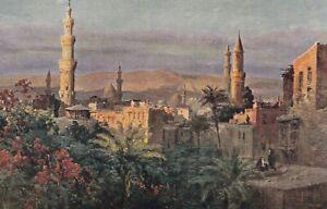 Friedrichsdorf Taunus Reklame Haller Eiernudeln AK Ägypten Kairo vom Hotel du N.