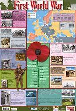 World War 1 Poster / A2 / A Educational / Facts about World War 1