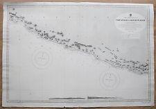 1878-9 Puerto de México Ángeles a manglar Bluff vintage mapa del Almirantazgo Gráfico