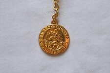 Saint St Christopher Keychain Rose Gold Key Ring Chain Charm