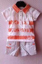 "Ensemble Garçon ""Tee-Shirt Orange + Short Gris"" - 6 Mois - Neuf"