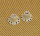099-2086-000 Genuine Fender Vintage White '65 Jazzmaster Witch Hat Knobs