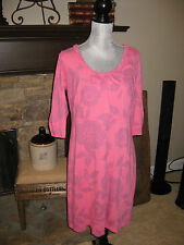NWT Fresh Produce 100% Cotton Tuscan Floral Tivoli Pink Sapphire Dress LARGE USA