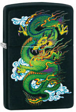 "Zippo Lighter ""Asian Dragon"" No 29839 - New on black matte finish"