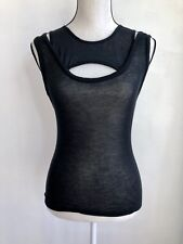 McQ Alexander Mcqueen Black Cut Out Tank New With Tags Size Xs Collectible