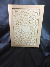 Wedding Drop Box Guest Book Complete With Hearts & stand A3