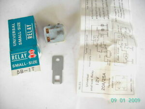 FOR DATSUN/NISSAN HEAD LAMP/WIPER 12V SMALL RELAY UNIT 5 PINS (GREY)(JAPAN)(NOS)