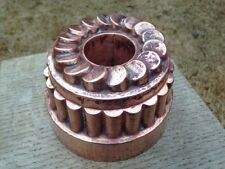 "Antique 6.12"" Victorian Jelly Copper Mold Mould Tiered/Coin Design Pipe Dovetail"