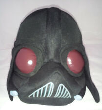 Darth Vader Star Wars Angry Bird Plush Stuffed Toy Black Head Brown Vinyl  Eyes