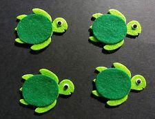 4 sea turtle die cuts Embellishments. Die cut. Card topper. Scrapbook.
