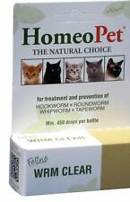 HomeoPet Worm Clear, 15 ml The Natural Choice Brand New
