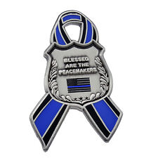 Blue Lives Matter Ribbon Shield Police Support Peacemakers Memorial Lapel Pin