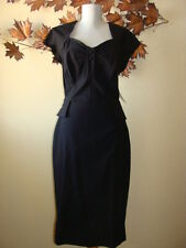 Stop Staring Bombshell Mod Black Rockabilly Pinup Pencil Dress 1X-3X USA Made