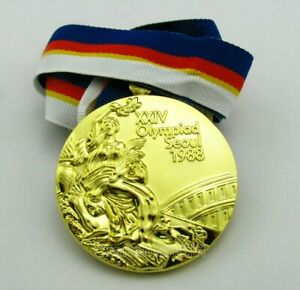 Seoul 1988 Olympic Winners Gold Medal with Ribbon 1:1 Full Size Replica
