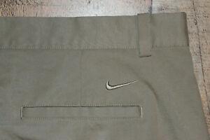 Nike Flex Men Dri Fit 40x30 Beige Performance Golf Pants 906780 Tour Stretch B47