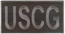 Uscg large monogram 80x40 black/gray Coast Guard patch