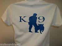 K-9 HANDLER T-Shirt, Printed Front & Back, Choice of Shirt & Print Colors