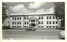 Vintage Real Photo Pc; Josephine County Court House, Grants Pass Or Sawyers